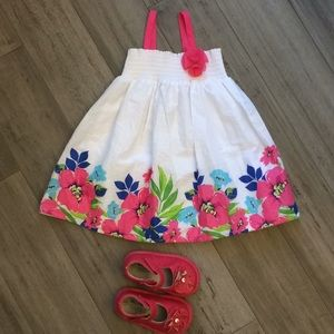 NWT white and flowered The Children's Place Dress